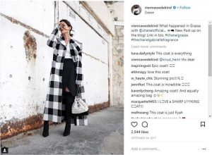Chanel uses influencers on social media