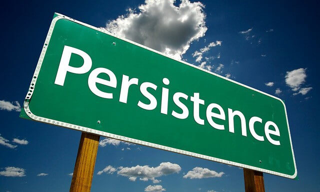Persistence, passion and hardwork